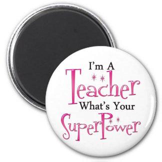 Super Teacher 6 Cm Round Magnet