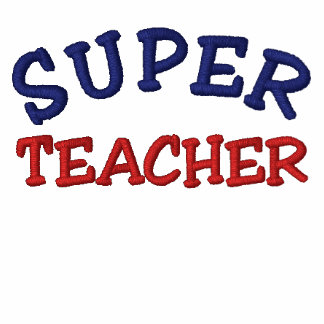 Super Teacher Embroidered Polo Shirt