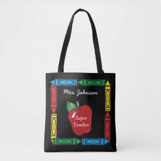 Super Teacher - Personalize Tote Bag