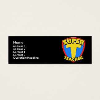 Super Teacher Skinny Profile Cards