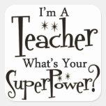 Super Teacher Square Stickers