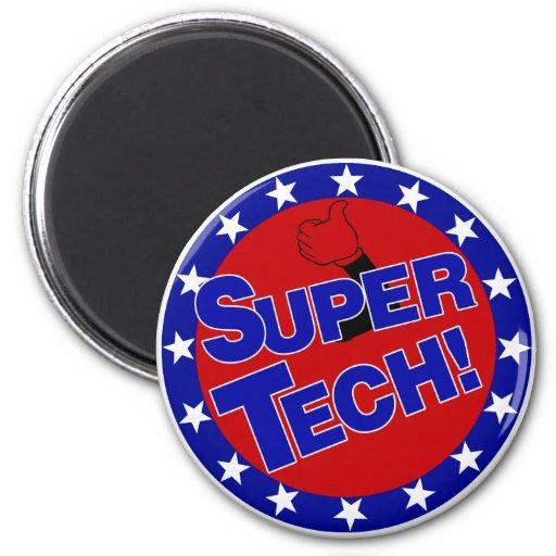 SUPER TECH! LABORATORY SCIENTIST ENCOURAGEMENT REFRIGERATOR MAGNETS