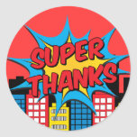 Super thanks round sticker