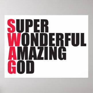 Super Wonderful Amazing God Poster