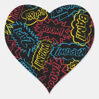 Super Words! Heart Sticker
