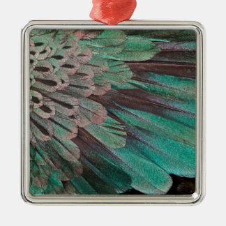 Superb Bird of Paradise feathers Metal Ornament