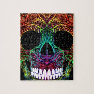 Superb Sugar Skull Dia De Los Muertos Candy Skull Jigsaw Puzzle