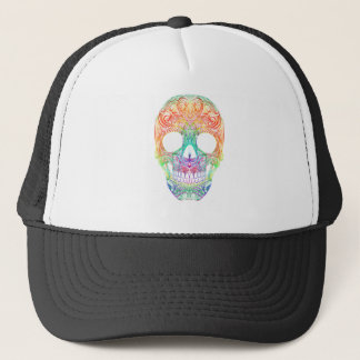 Superb Sugar Skull Dia De Los Muertos Candy Skull Trucker Hat