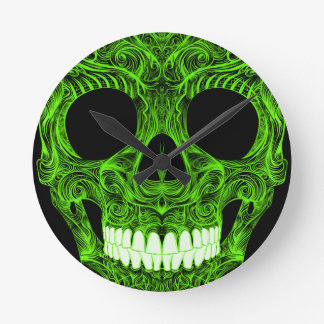 Superb Sugar Skull Dia De Los Muertos Day of the D Round Clock