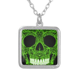 Superb Sugar Skull Dia De Los Muertos Day of the D Silver Plated Necklace