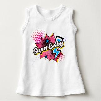 SuperBABY superhero comic baby dress gift PINK