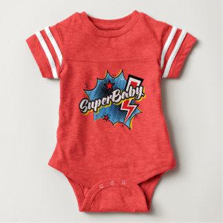 SuperBABY superhero comic bodysuit baby gift RED