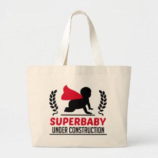 superbaby under construction large tote bag
