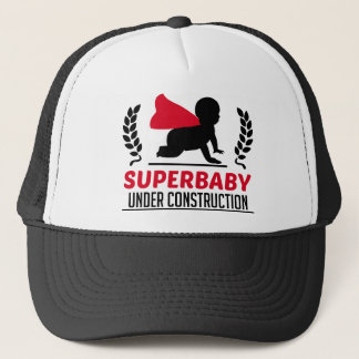 superbaby under construction trucker hat