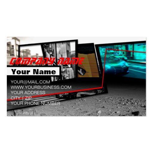 Supercars Fragment in Dynamic City Background Business Card