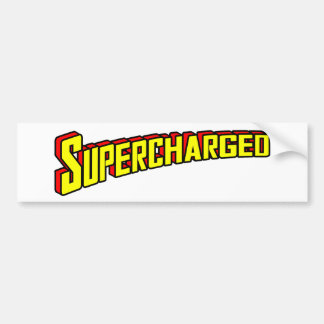 Supercharged Bumper Sticker