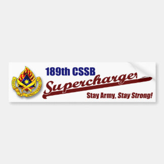 superchargers stay strong bumper sticker