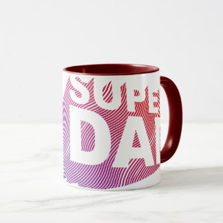 SuperDad 3D Fire Pattern Mug