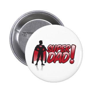 superdad 6 cm round badge
