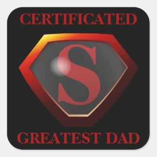 SUPERDAD Certificate Square Sticker