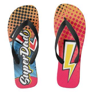 SuperDAD Father's Day gift beach sandals flip flop