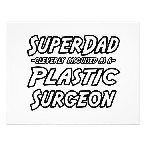 SuperDad...Plastic Surgeon Personalized Announcement