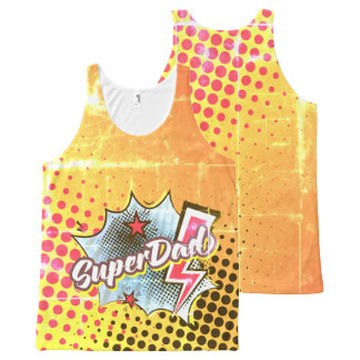 SuperDAD tank top gift, comic style VINTAGE