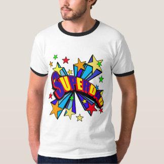SuperDad! with Stars and Cartoon Design Shirt