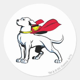 Superdog Krypto Round Sticker