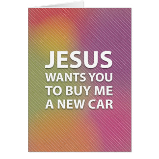 Superficial Jesus Card