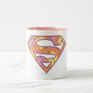 Supergirl Argyle Logo Two-Tone Coffee Mug