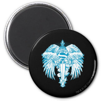 Supergirl Blue Wings 6 Cm Round Magnet