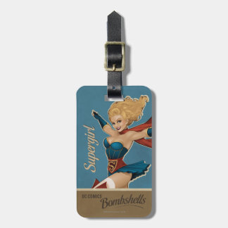 Supergirl Bombshell Luggage Tag