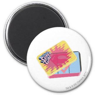 Supergirl Box 6 Cm Round Magnet