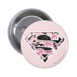 Supergirl Camouflage Logo 6 Cm Round Badge