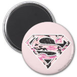 Supergirl Camouflage Logo 6 Cm Round Magnet