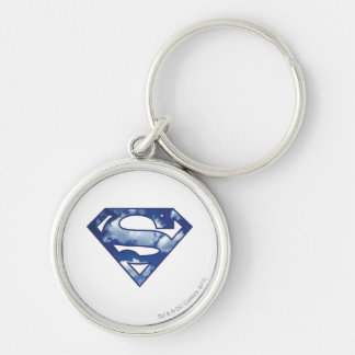 Supergirl Cloud Logo Silver-Colored Round Key Ring