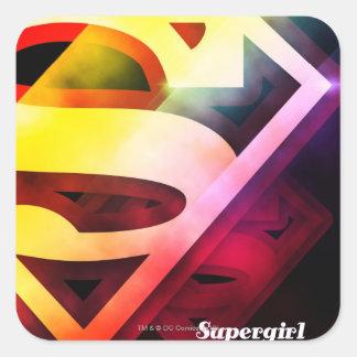 Supergirl Colorful Logo Square Sticker