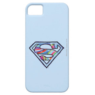 Supergirl Colorful Sketch Logo iPhone 5 Cases