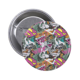Supergirl Comic Capers Pattern 10 6 Cm Round Badge