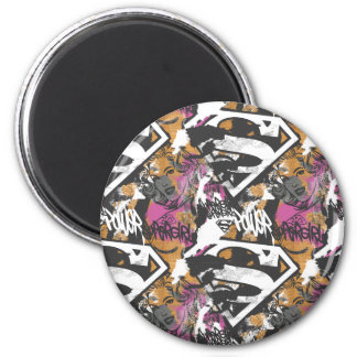Supergirl Comic Capers Pattern 3 6 Cm Round Magnet