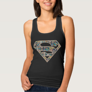 Supergirl Comic Strip Logo Singlet