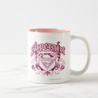 Supergirl Crest Design Two-Tone Coffee Mug