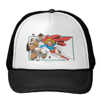 Supergirl Destroys Boulder Trucker Hat