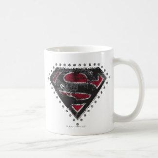 Supergirl Distressed Logo Black and Red Coffee Mug