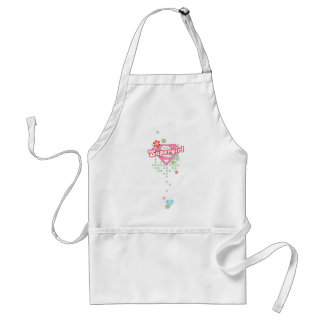 Supergirl Flower Madness Standard Apron
