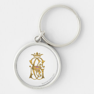 Supergirl Gold Crown Silver-Colored Round Key Ring