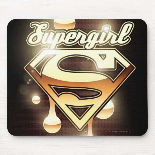 Supergirl Gold Drips Mousepad