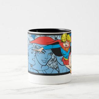 Supergirl Head Shots Two-Tone Mug