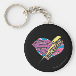 Supergirl Heart and Bolt Key Ring